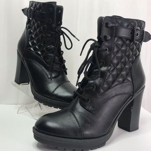 G-By Guess Quilted Moto Boots Size 9